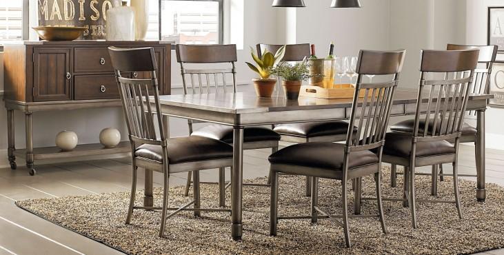 Hudson Warm Cherry Rectangular Extendable Dining Room Set