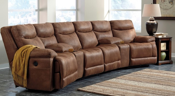 Valto Saddle Large Entertainment Sectional Seating