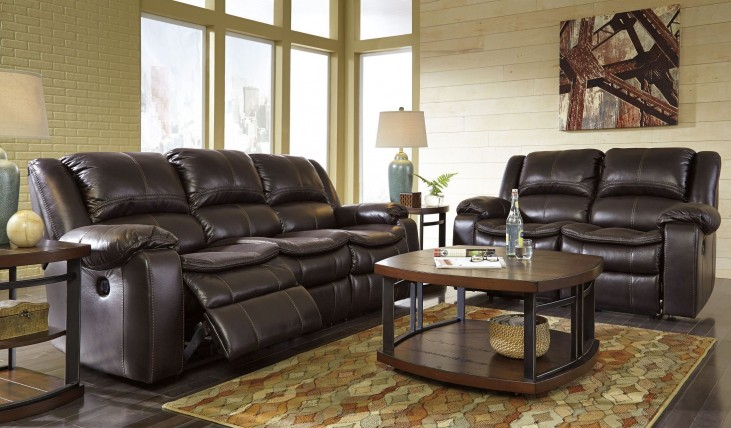 Long Knight Brown Reclining Living Room Set