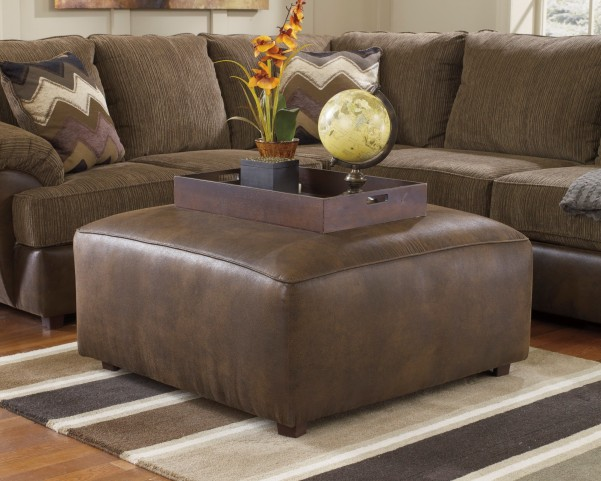 Cladio Hickory Oversized Accent Ottoman