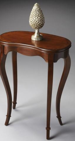Masterpiece Olive Ash Burl Kidney-Shaped Table