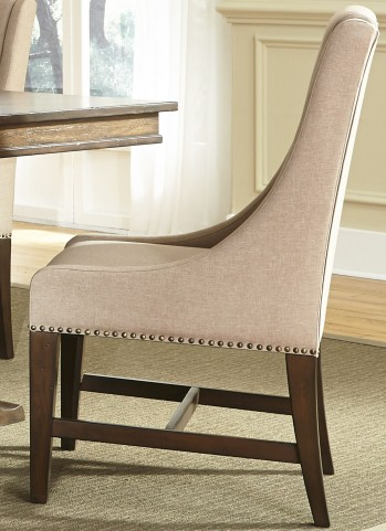 Armand Beige Upholstered Side Chair