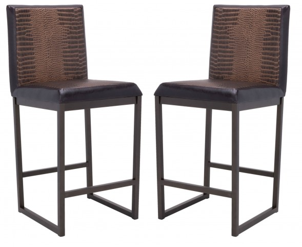 Porto Counter Metal Stool Set of 2