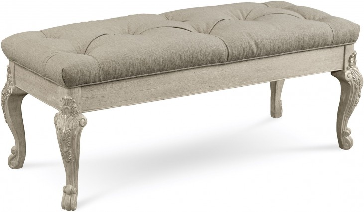 Renaissance Dove Grey Bed Bench