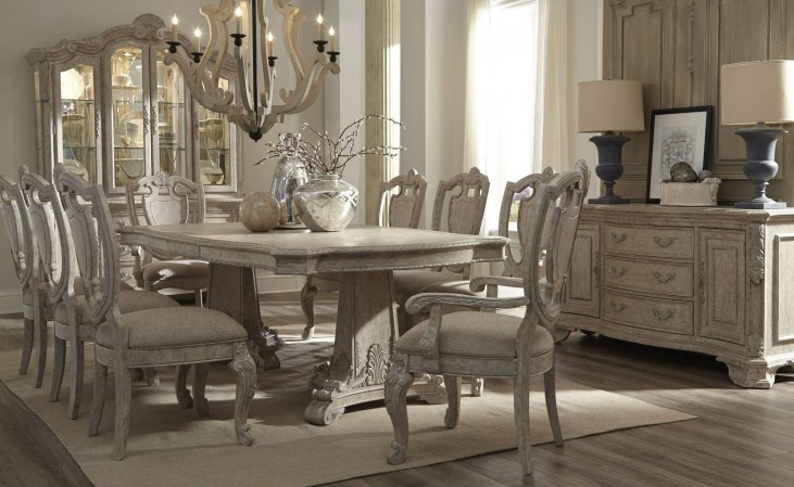Renaissance Rectangular Double Pedestal Dining Room Set