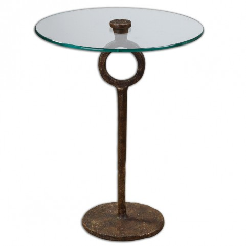 Diogo Glass Accent Table