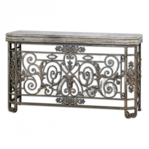 Kissara Metal Console Table