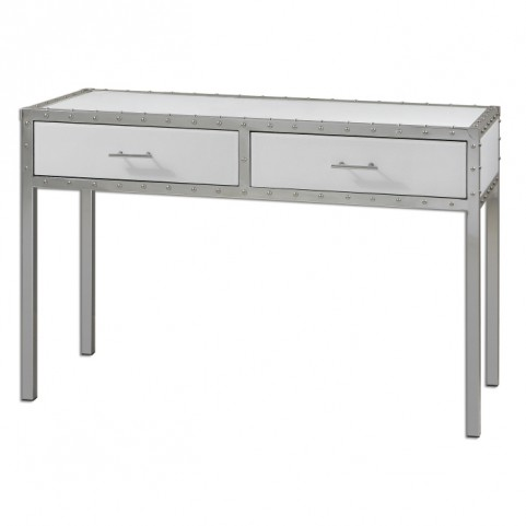 Bryton White Console Table
