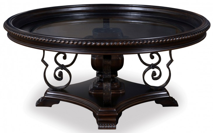 Marbella Noir Round Cocktail Table