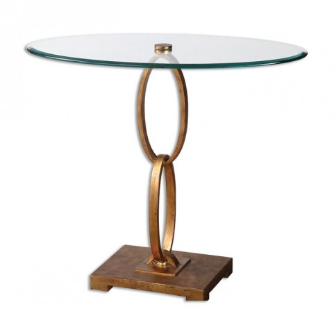 Cieran Oval Glass Accent Table