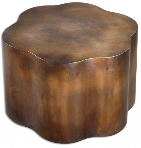 Sameya Oxidized Copper Accent Table