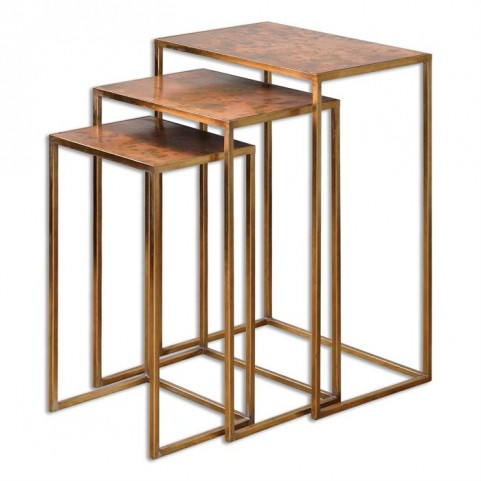 Copres Oxidized Nesting Tables Set of 3