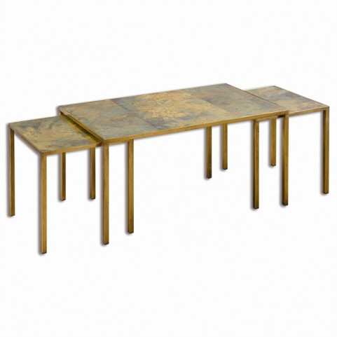 Couper Oxidized Nesting Coffee Tables Set of 3
