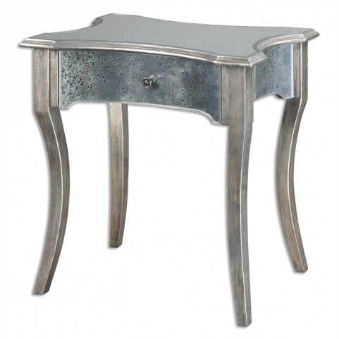 Jovannie Mirrored Accent Table