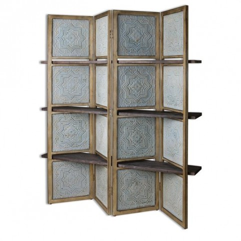 Anakaren Screen With Shelves