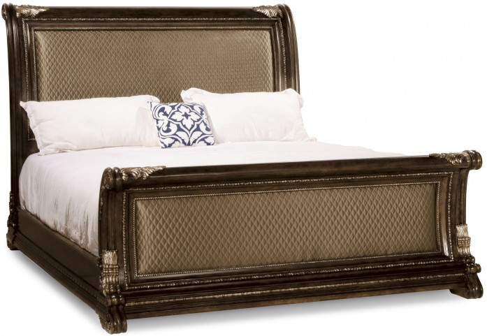 Gables Upholstered King Sleigh Bed