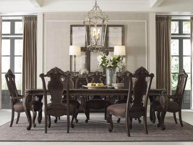 Gables Leg Pedestal Extendable Dining Room Set