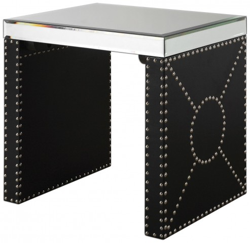 Lucero Mirrored End Table