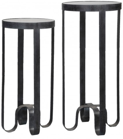 Arusi Strapped Iron Accent Tables Set of 2