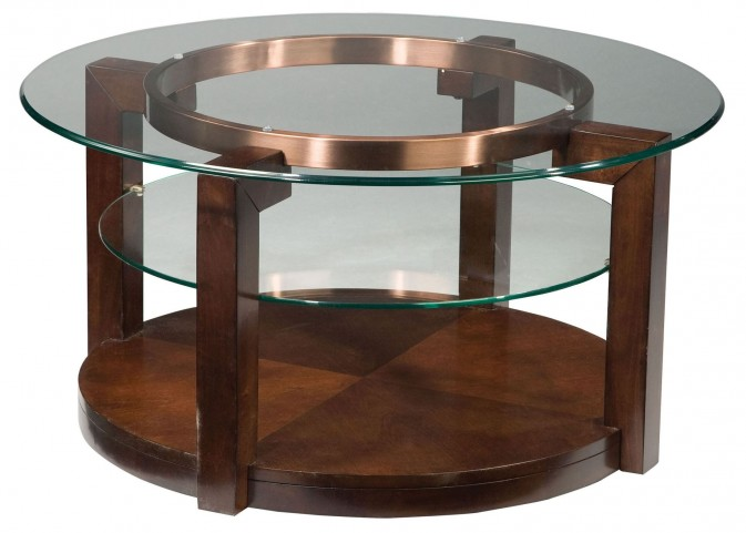 Coronado Dark Chocolate Round Cocktail Table