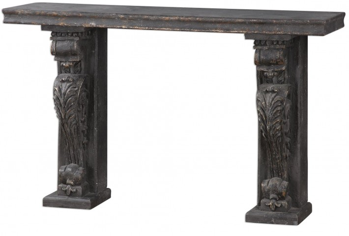Liem Aged Console Table