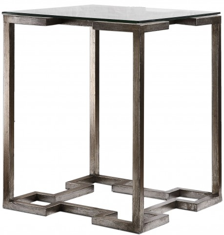 Kelli Glass Top Accent Table