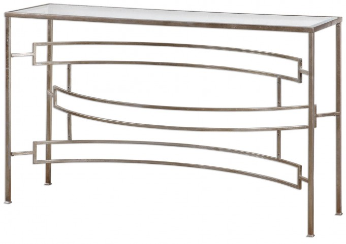 Eilinora Silver Console Table