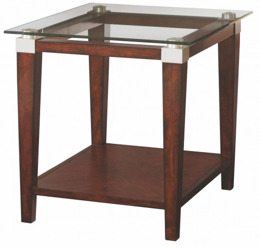 Solitaire Dark Brown Rectangular End Table