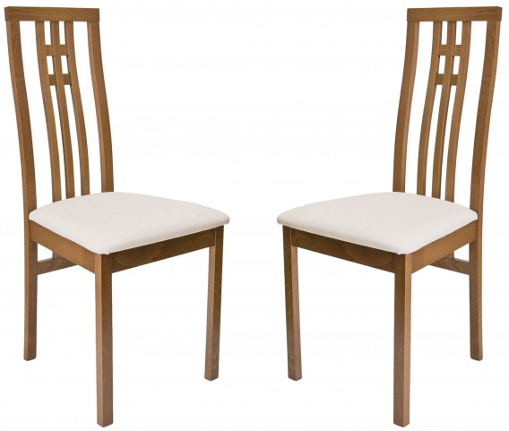 Beechwood District Walnut Dining Chair Set of 2
