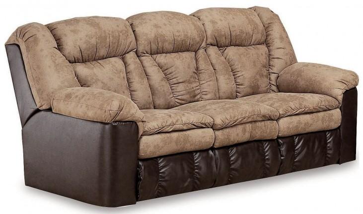 Talon Sahara Sand Double Reclining Sofa