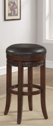 "B2-251-34LSU 34"" Wood Frame Backless Bar Stool"