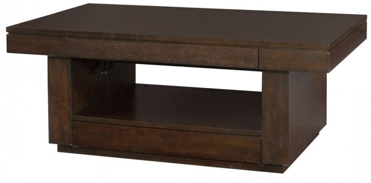 Uptown Mocha Rectangular Lift-Top Cocktail Table