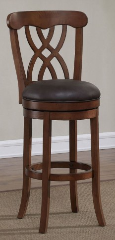 "Ornamental 34"" Wood Frame Stool"