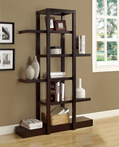 "2541 Cappuccino 71""H Open Concept Display Etagere"
