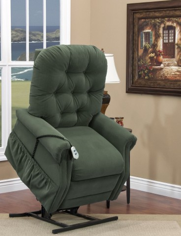 Aaron Hunter Green Wide Three Way Reclining Lift Chair