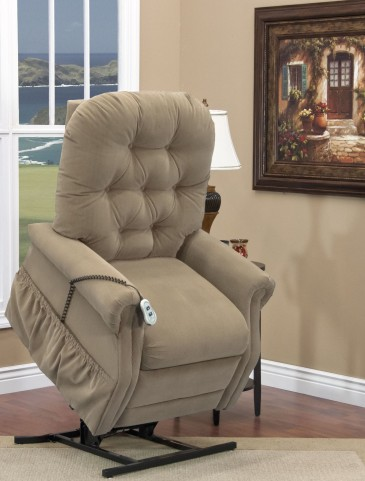 Aaron Light Brown Tufted Two Way Reclining Lift Chair