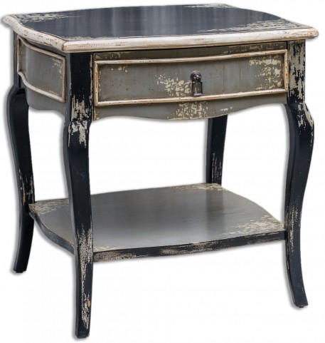 Andrin Distressed Side Table