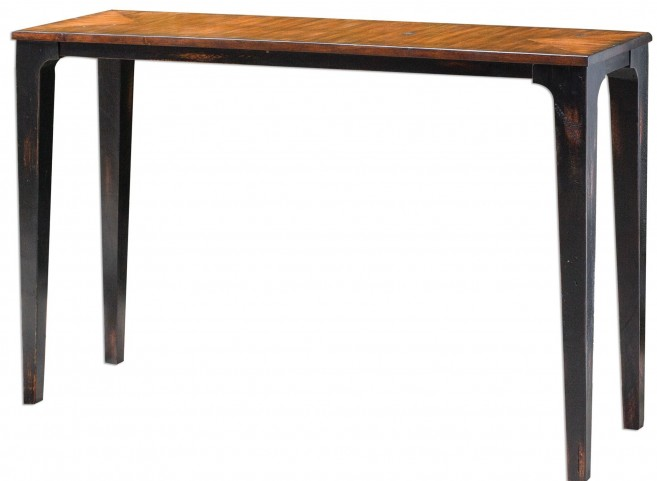Helice Wood Console Table