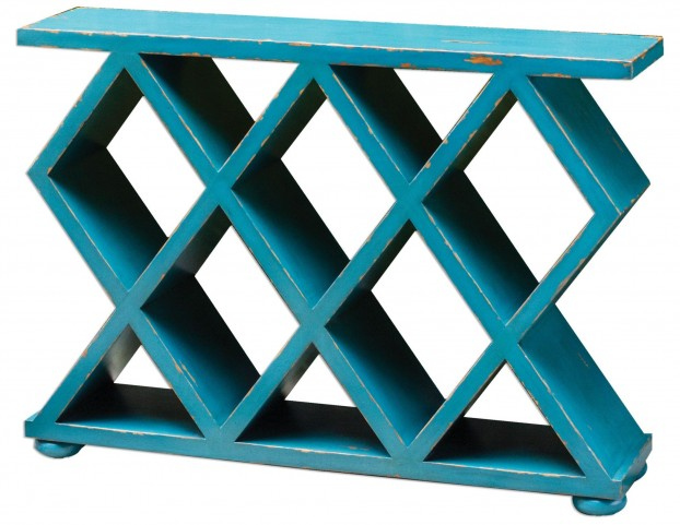 Tomek Blue Console Table