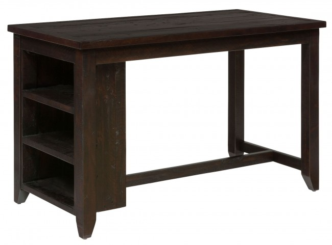 Prospect Creek Dark Brown Shelf Storage Counter Height Dining Table