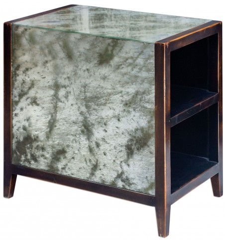 Tierney Antique Mirror End Table