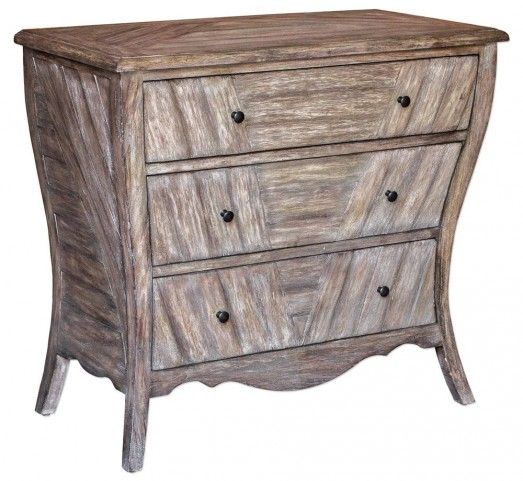 Gimbya Wooden Three Drawer Chest