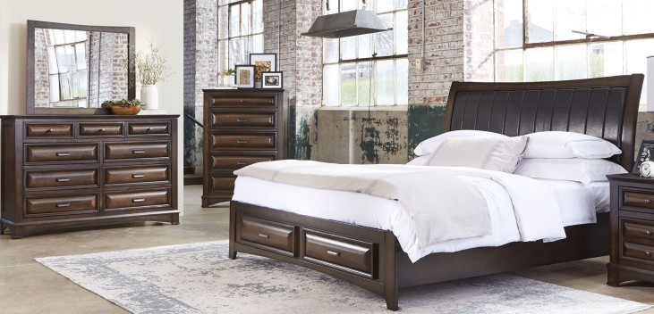 Knollwood Dark Cognac Storage Bedroom Set
