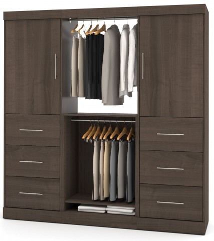 Nebula Antigua 80'' Drawer Storage Wardrobe