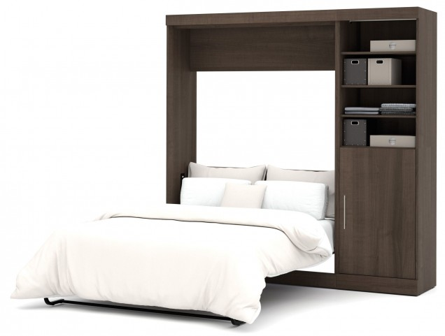 "Nebula Antigua 84"" Full Wall Storage Bed"