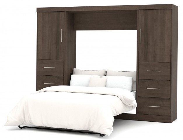"Nebula Antigua 109"" Full Wall Storage Bed"