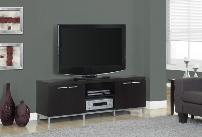 2592 Cappuccino Hollow-Core TV Console