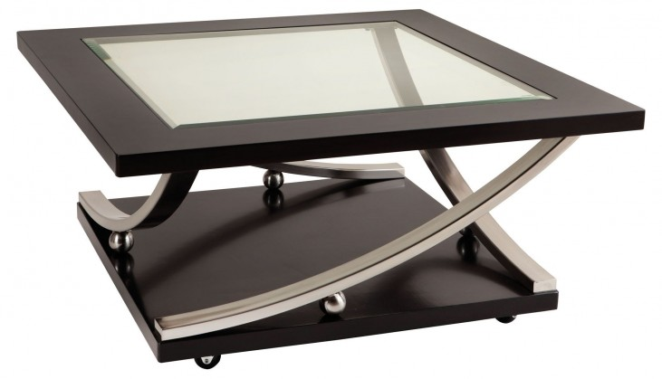 Melrose Dark Merlot Square Cocktail Table