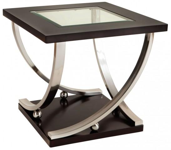 Melrose Dark Merlot End Table