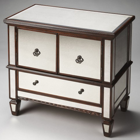 Celeste Masterpiece Mirror And Mahogany Console Cabinet